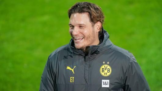 BVB-Trainer Edin Terzic sorgte auf der Pressekonferenz für einen Lacher.
