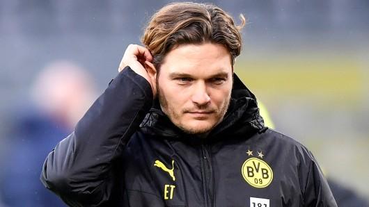 Bei Borussia Dortmund kann Trainer Edin Terzic endlich im Training richtig arbeiten.