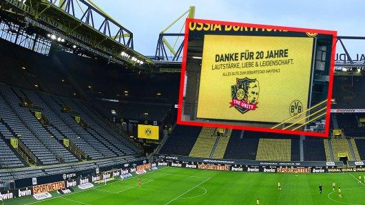 """Borussia Dortmund gratulierte der Fan-Gruppierung """"The Unity"""" zum Jubiläum."""
