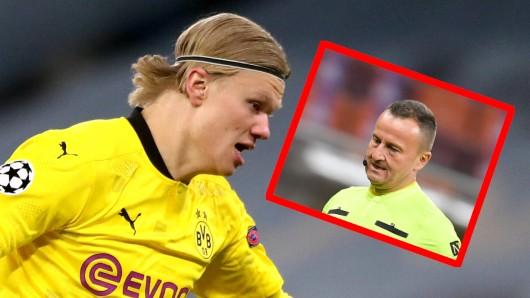 Bei Borussia Dortmunds 1:2 in Manchester ging Schiri-Assistent Octavian Sovre auf Autogrammjagd.