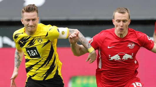 Borussia Dortmund tritt gegen RB Leipzig an.