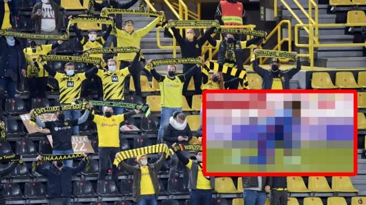 Borussia Dortmund: Über diese Aktion können die schwarzgelben Anhänger nur mit dem Kopf schütteln.