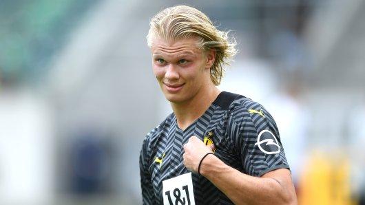 Bei Borussia Dortmund – Athletic Bilbao war Erling Haaland sehr gefragt.