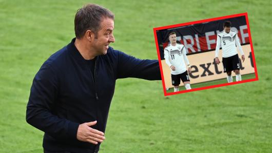 Flick als Nationaltrainer vorgestellt. Die zwei Stars von Borussia Dortmund dürften bei einem Satz genau hingehört haben.