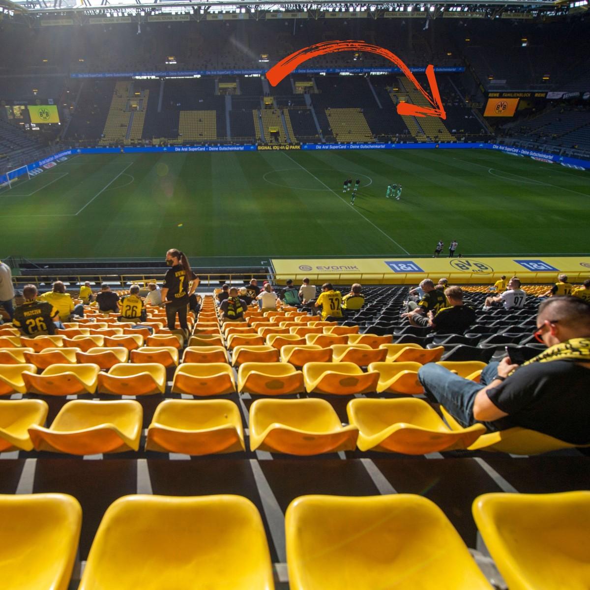 Sitzplätze bvb stadion BVB schränkt