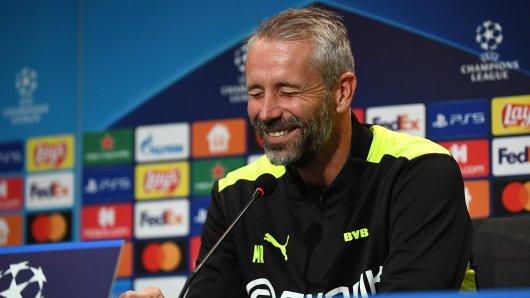 Auf der PK vor dem CL-Spiel Borussia Dortmund – Besiktas Istanbul sorgte eine Frage bei Trainer Marco Rose für Lacher.