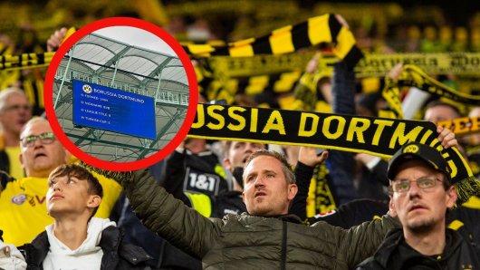 Borussia Dortmund: Die Fans konnten nicht glauben, was in Istanbul auf der Anzeigetafel stand.