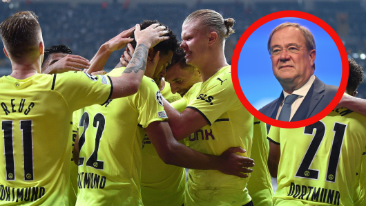 CDU-Kanzlerkandidat Armin Laschet gratulierte Borussia Dortmund zum Sieg.