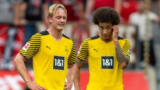 Borussia Dortmund: Axel Witsels (r.) Vertrag läuft aus, Julian Brandt ist beim BVB nicht unumstritten.
