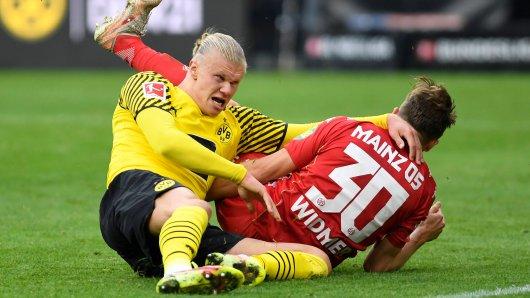 Mit seinem Doppelpack knockt Erling Haaland Mainz 05 aus.