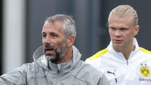 Borussia Dortmunds Trainer Marco Rose wollte nicht auf Erling Haaland verzichten.