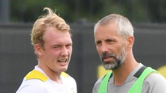 Borussia Dortmund: Julian Brandt kassiert einen Seitenhieb von seinem Coach.