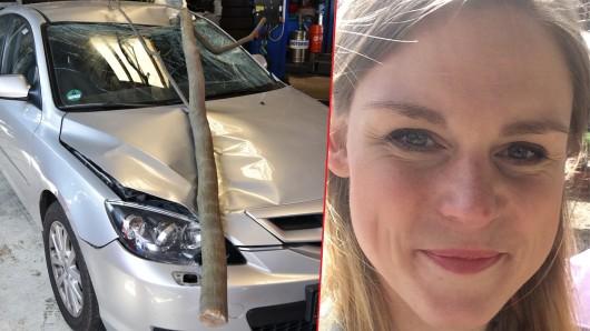 Cindy Kramer entkam nur knapp einem willkürlichen Mordanschlag – ihr Auto wurde zerstört.