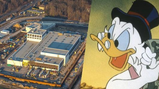 In Dortmund entsteht ein Geldspeicher, wie ihn sonst nur Dagobert Duck hat.