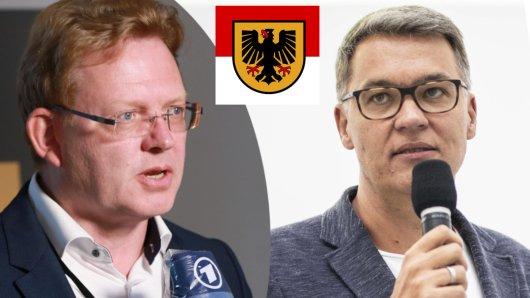 Wollen neues Dortmunder Stadtoberhaupt werden: SPD-Kandidat Thomas Westphal (rechts) und CDU-Politiker Andreas Hollstein.