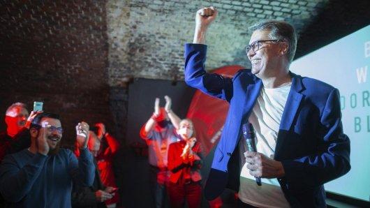 Stichwahl in Dortmund: Hier jubelt der neue Oberbürgermeister der Stadt! Thomas Westphal von der SPD.