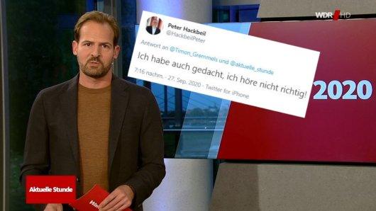 """""""Ich habe auch gedacht, ich höre nicht richtig!"""": Mit einem Satz zur Stichwahl in Dortmund bringt WDR-Moderator Hübschen SPD-Anhänger gegen sich auf."""