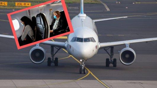 Manchen Passagieren hat die Aktion gar nicht gepasst.