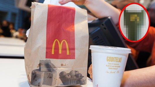McDonalds in Düsseldorf: Als eine Frau ihre Bestellung checkte, sah sie etwas Unerwartetes. (Symbolfoto)