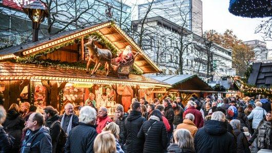 Der Weihnachtsmarkt in Duisburg dauert am längsten mit 44 Tagen von den größeren Märkten in NRW.