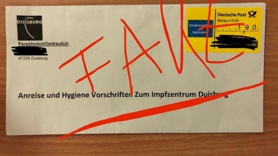 Die Polizei Duisburg warnt vor solchen Briefen.