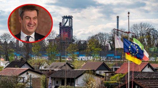 Duisburg: Zwei Schrebergarten-Besitzer haben eine eindeutige Meinung zur kommenden Bundestagswahl – einer ist sogar Söder-Fan.