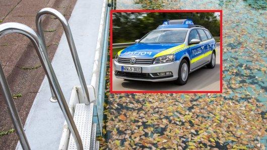 In Essen wurde ein lebloses Mädchen in einem Swimmingpool entdeckt. Sofort rückte die Polizei an.