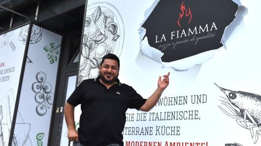"""Der Pizza-Lieferdienst """"La Fiamma"""" zieht um und wird auch Restaurant."""