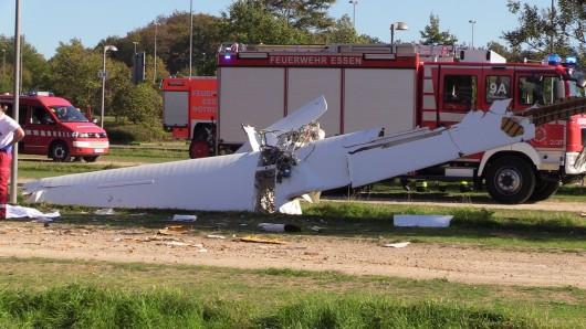 Das Wrack des abgestürzten Flugzeuges.