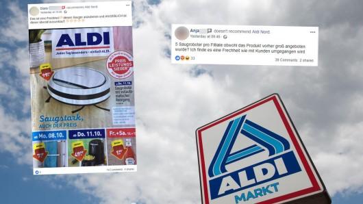 Aldi-Nord-Kunden zeigten sich bei Facebook empört darüber, dass der Saugroboter nur in geringer Zahl erhältlich war.