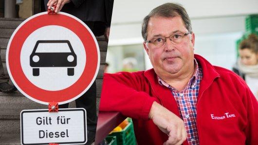Jörg Sartor, Chef der Essener Tafel, wettert über das Dieselfahrverbot in Essen.