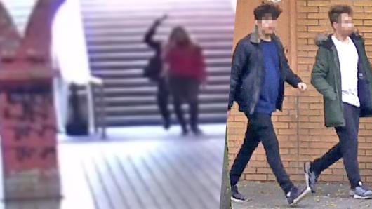 Feiger Glasflasachen-Überfall im Essener U-Bahnhof Viehofer Platz.