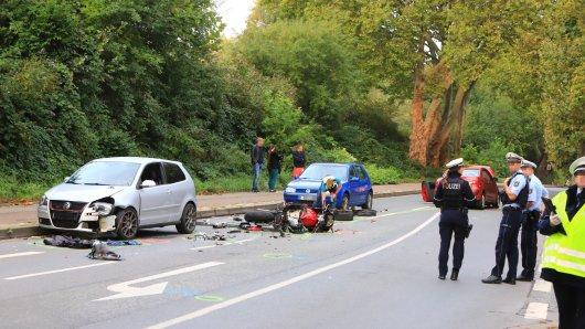 Schwerer Verkehrsunfall in Essen.