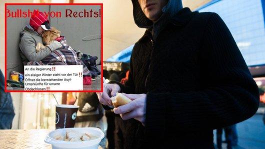 """Immer wieder tauchen Posts wie dieser im Netz auf. Die Initiative """"Essen packt an"""" spricht deshalb nun Klartext."""