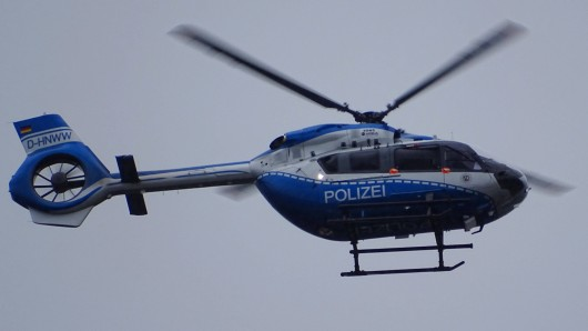 Ein Polizeihubschrauber war in Essen im Einsatz. (Symbolfoto)