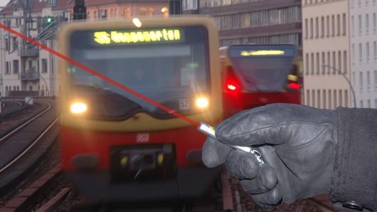 Ein Laserpointer ist äußerst gefährlich, kann dauerhafte Schäden am Auge verursachen. Jetzt ist ein S-Bahn-Fahrer aus Essen geblendet worden. (Symbolfoto)
