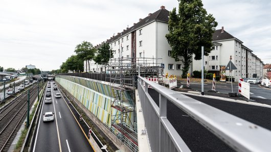 Blick von der Hausackerbrücke in Essen auf die A40. (Archivfoto)