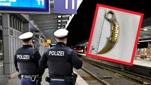 Beamte der Bundespolizei fanden bei der Kontrolle eines 16-Jährigen eine gefährliche Waffe. (Symbolfoto)