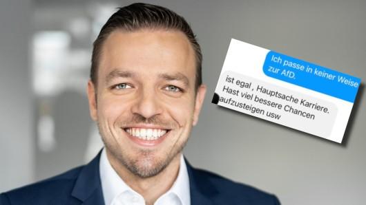 Florian Fuchs, CDU-Bundestagskandidat in Essen, erhielt dubiose Nachrichten über Facebook.