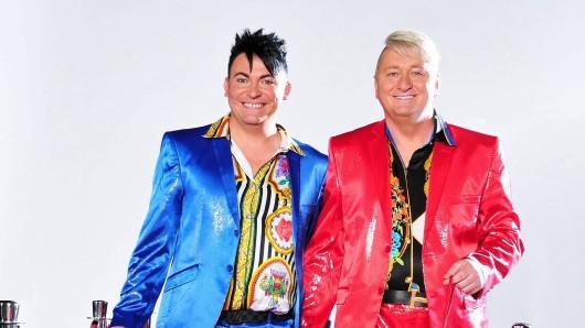 Das TV-Paar aus Bayern Hubert Fella (49, r.) und Matthias Mangiapane (34).