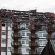 Die oberen Stockwerke des Universitätsklinikums Bergmannsheil in Bochum sind nach dem Brand völlig zerstört.