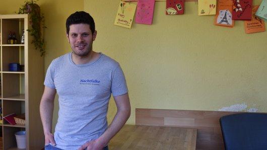 Der Diplom-Sozialpädagoge Manuel Hurschmann arbeitet seit 2010 beim Nachtfalken.