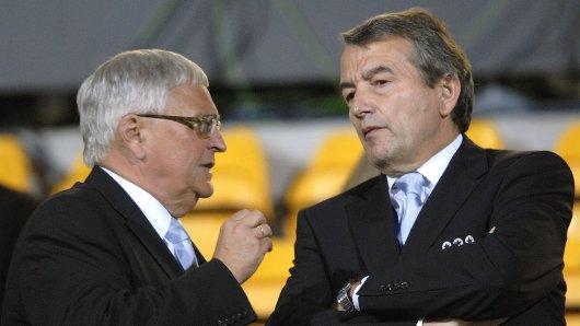 Die ehemaligen DFB-Präsidenten Theo Zwanziger (l.) und Wolfgang Niersbach.