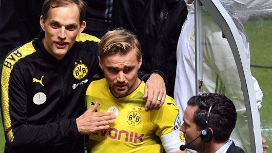 Kapitän Schmelzer (l.) kritisierte nach dem Spiel Trainer Tuchel.