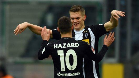 Bei Juventus Turin im Gespräch: Matthias Ginter (r.) von Borussia Mönchengladbach.