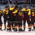Riesenjubel: Deutschlands Eishockeyteam steht im olympischen Halbfinale.