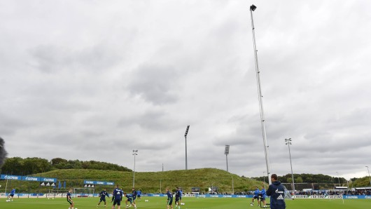 Trainingsaufzeichnung auf Schalke: Der Verein ist modern aufgestellt.