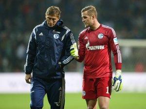 Holger Gehrke in seiner Zeit als Schalke-Torwarttrainer mit Ralf Fährmann.