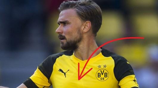 Borussia Dortmund lief am Samstag erstmals im neuen Trikot auf.