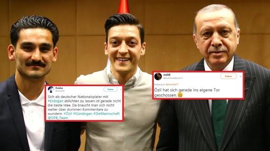 Ilkay Gündogan und Mesut Özil trafen Recep Tayyip Erdogan.